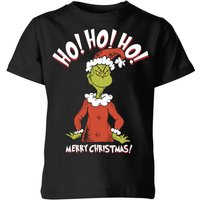 The Grinch Ho Ho Ho Smile Kids Christmas T-Shirt - Black - 9-10 Years - Black