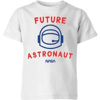 NASA Space Cadets Future Astronaut Kids' T-Shirt - White - 3-4 Years - White