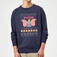 Disney Classic Dumbo Christmas Sweatshirt - Navy - M