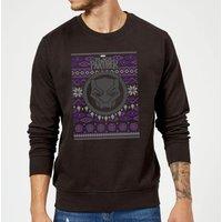 Marvel Avengers Black Panther Christmas Sweatshirt - Black - L - Black