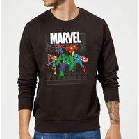 Marvel Avengers Group Christmas Sweatshirt - Black - XXL - Black