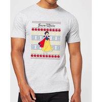 Disney Classic Snow White Men's Christmas T-Shirt - Grey - L - Grey