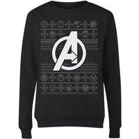 Marvel Avengers Logo Women's Christmas Sweatshirt - Black - XL - Black