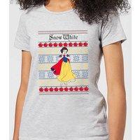 Disney Classic Snow White Women's Christmas T-Shirt - Grey - M - Grey