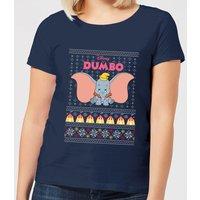 Disney Classic Dumbo Women's Christmas T-Shirt - Navy - XXL