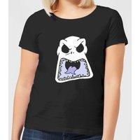 Nightmare Before Christmas Jack Skellington Angry Face Women's T-Shirt - Black - L - Black