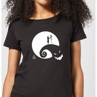 Nightmare Before Christmas Jack and Sally Moon Women's T-Shirt - Black - M