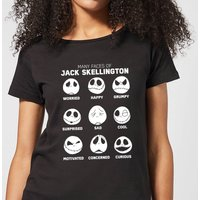 Nightmare Before Christmas Jack Pumpkin Faces Collection Women's T-Shirt - Black - S - Black