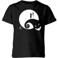 The Nightmare Before Christmas Jack and Sally Moon Kids' T-Shirt - Black - 5-6 Years - Black