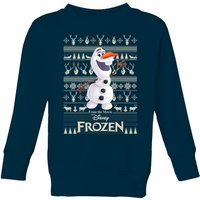 Disney Frozen Olaf Kids Christmas Sweatshirt - Navy - 11-12 Years - Navy