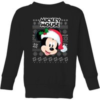 Disney Classic Mickey Mouse Kids Christmas Sweatshirt - Black - 5-6 Years