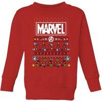 Marvel Avengers Pixel Art Kids Christmas Sweatshirt - Red - 5-6 Years - Red