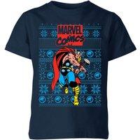 Marvel Avengers Thor Kids Christmas T-Shirt - Navy - 11-12 Years