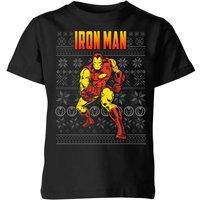 Marvel Avengers Classic Iron Man Kids Christmas T-Shirt - Black - 3-4 Years - Black