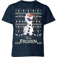 Disney Frozen Olaf Kids Christmas T-Shirt - Navy - 7-8 Years - Navy