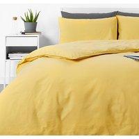 in homeware Washed Cotton Duvet Set - Yellow - Single