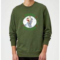 Star Wars Merry Hothmas Christmas Sweatshirt - Forest Green - L - Forest Green