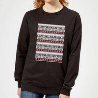 Star Wars AT-AT Pattern Women's Christmas Sweatshirt - Black - XXL - Black