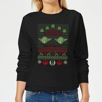 Star Wars Merry Christmas I Wish You Knit Women's Christmas Sweatshirt - Black - M - Black