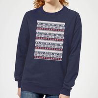 Star Wars AT-AT Pattern Women's Christmas Sweatshirt - Navy - XS - Navy