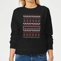 Star Wars On The Naughty List Pattern Women's Christmas Sweatshirt - Black - XS - Black