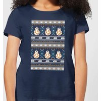 Star Wars BB-8 Pattern Women's Christmas T-Shirt - Navy - S - Navy