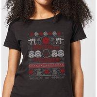 Star Wars Merry Sithmas Knit Women's Christmas T-Shirt - Black - 4XL - Black