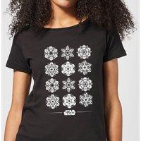 Star Wars Snowflake Women's Christmas T-Shirt - Black - S - Black