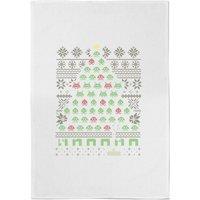 Gamer's Christmas Tree Cotton Tea Towel