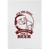 It's The Most Wonderful Time for A Beer Cotton Tea Towel - Beer Gifts