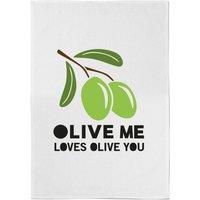 Olive Me Loves Olive You Cotton Tea Towel