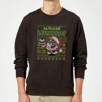 Dexter's Lab Pattern Christmas Sweatshirt - Black - S - Black