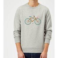 Rudolph Bike Christmas Sweatshirt - Grey - S - Grey