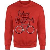 Bike Lights Christmas Sweatshirt - Red - XXL - Red