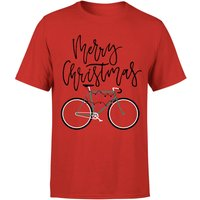 Bike Lights Men's Christmas T-Shirt - Red - M - Red