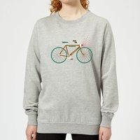 Rudolph Bike Women's Christmas Sweatshirt - Grey - M - Grey