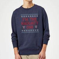 I'm The Naughty One Christmas Sweatshirt - Navy - L - Navy
