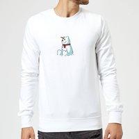 Unicorn Snowman Christmas Sweatshirt - White - XXL - White