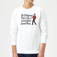 Its Christmas, Dance Like A Weird Robot Christmas Sweatshirt - White - XXL - White
