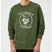 Love It When You Call Me Big Papa Christmas Sweatshirt - Forest Green - XXL - Forest Green