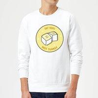 Eat Tofu Not Turkey Christmas Sweatshirt - White - S - White