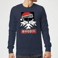 Gangsta Wrapper Christmas Sweatshirt - Navy - XL - Navy