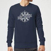 Merry Christmas Christmas Sweatshirt - Navy - M - Navy