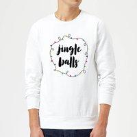 Jingle Balls Christmas Sweatshirt - White - XXL - White