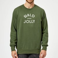 Bald and Jolly Christmas Sweatshirt - forest Green - S - Forest Green