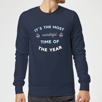It's The Most Wonderful Time Of The Year Christmas Sweatshirt - Navy - L - Navy