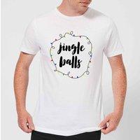 Jingle Balls Mens Christmas T-Shirt - White - 3XL - White