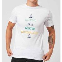 Walking In A Winter Wonderland Men's Christmas T-Shirt - White - XXL - White