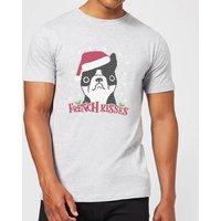 French Kisses Mens Christmas T-Shirt - Grey - XL - Grey