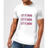 Let It Snow Men's Christmas T-Shirt - White - XS - White